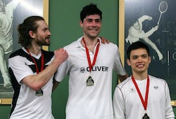 2014 Canadian Badminton Nationals - Snider Podium together